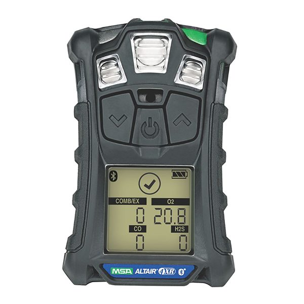 ALTAIR 4XR Multigas Detector: LEL, O2, H2S & CO. Charcoal case. European charger.