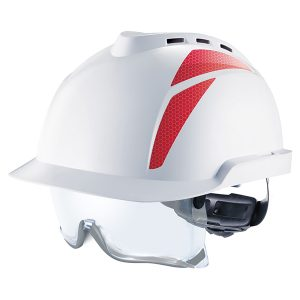 V-Gard® 930 Vented Safety Helmet with Red Stickers